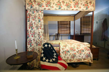 Betsy Rosss bedroom, in The Betsy Ross House on East Third Street, Philadelphia, Pennsylvania