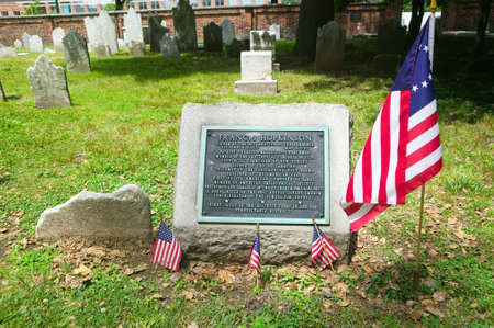 signer: Gravestone for Francis Hopkinson in Christ Church Burial Ground, Philadelphia, Pennsylvania, signer of the Declaration of Independence and designer of the American Flag