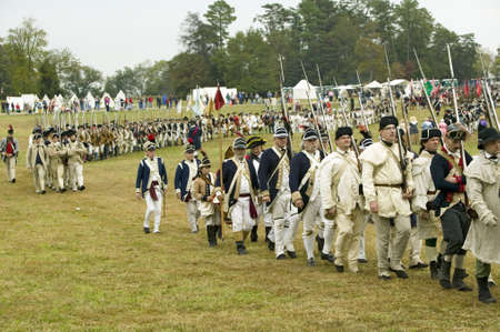 The 225th Anniversary of the Victory at Yorktown, a reenactment of the siege of Yorktown, where General George Washington commanded 17,600 American troops and French Comte de Rochambeau lead 5500 French troops, together defeating General Lord Cornwallis,  Editorial
