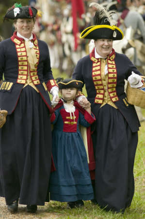 commanded: British Ladies at the 225th Anniversary of the Victory at Yorktown, a reenactment of the siege of Yorktown, where General George Washington commanded 17,600 American troops and French Comte de Rochambeau lead 5500 French troops, together defeating General