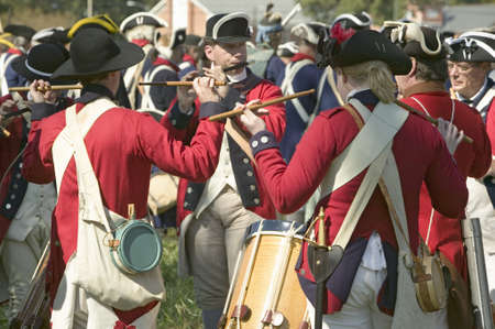 percussionist: Fife and drum musicians perform at the Endview Plantation (circa 1769), near Yorktown Virginia, as part of the 225th anniversary of the Victory of Yorktown, a reenactment of the defeat of the British Army and the end of the American Revolution.