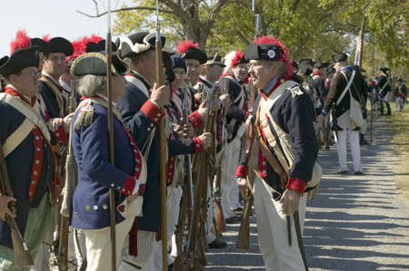 regiment: Re-enactment of Attack on Redoubts 9 & 10 where the major infantry action of the siege of Yorktown took place.  General Washingtons armies captured two British fortifications, Endview Plantation (circa 1769), near Yorktown Virginia.  Part of the 225th an