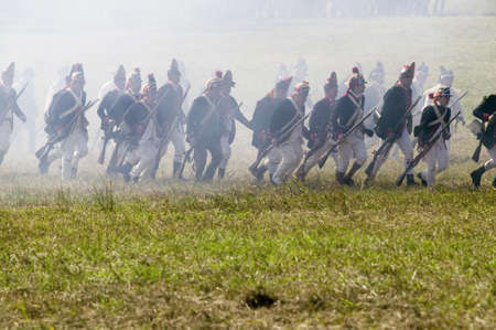 Re-enactment of Attack on Redoubts 9 & 10 where the major infantry action of the siege of Yorktown took place.  General Washingtons armies captured two British fortifications, Endview Plantation (circa 1769), near Yorktown Virginia.  Part of the 225th an
