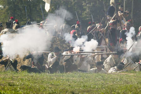 regiment: Continental Light Infantry and attached units defend Redoubt No. 10 from British counter attack in re-enactment of Attack on Redoubts 9 & 10, where the major infantry action of the siege of Yorktown took place.  General Washingtons armies captured two Br