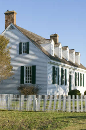 resides: Digges House, built in 1775 in Yorktown, Virginia. First owner Dudley Digges house now resides in the Colonial National Historical Park, Historical Triangle, Virginia. Editorial