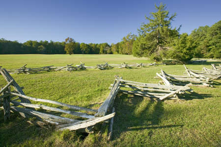 Surrender Field, where Lord Cornwallis surrendered to General George Washington ending the American Revolution, the actual surrender spot of 1781, at the Colonial National Historical Park, Historical Triangle, Virginia