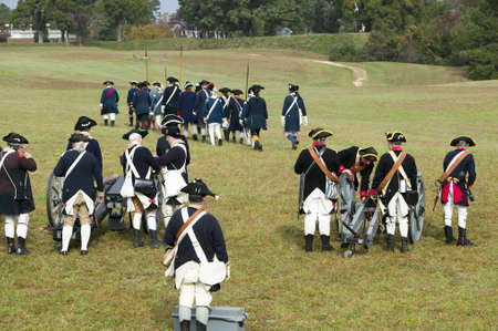regiment: Revolutionary War re-enactors re-create the cannon fire and subsequent cease-fire of the British army, in which they flew the white flag requesting a truce, bringing an end to the bombardment by the Allied armies and beginning the negotiations to surrende