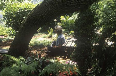 meditator: A meditator in Los Angeles California