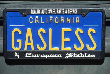 Vanity License Plate - California Editorial