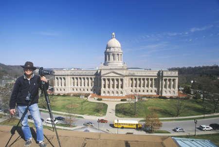 ケンタッキー州フランクフォートの州議会議事堂 報道画像