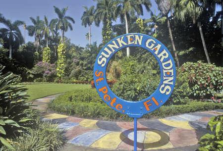 foremost: Sunken Gardens, Floridas foremost botanical gardens, St. Petersburg, Florida Editorial