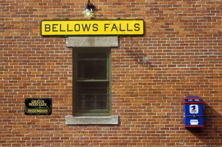 bellows: Bellows Falls train station along Green Mountain Railroad in Bellows Falls, VT