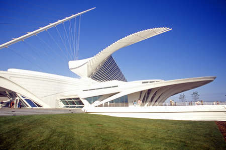 Milwaukee: Exterior of the Milwaukee Art Museum on Lake Michigan, Milwaukee, WI Editorial