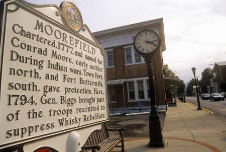 Commemorative plaque in Moorefield, WV