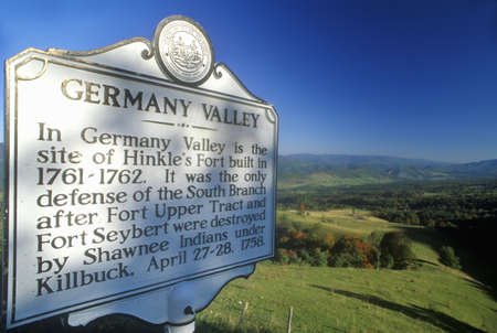 allegheny: Sign overlooking Germany Valley, Allegheny Mountains, Scenic Route 219, WV Editorial