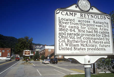 reynolds: Sign at entrance of Camp Reynolds, on Scenic Highway US Route 60, WV