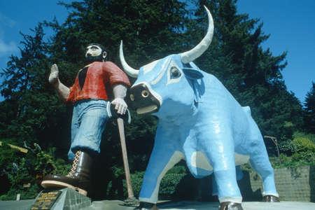 Paul Bunyan and Babe, the Blue Ox, Klamath CA