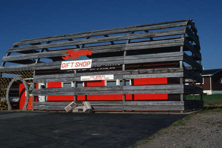 A gift shop inside of a giant lobster trap, Nova Scotia, Canada