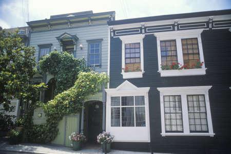 Historical apartments on Union Street, San Francisco, CA