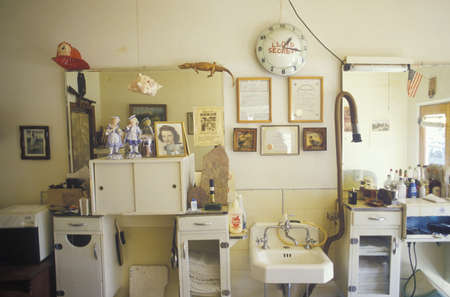 barbershop: A small-town barbershop, Lyons, CO Editorial