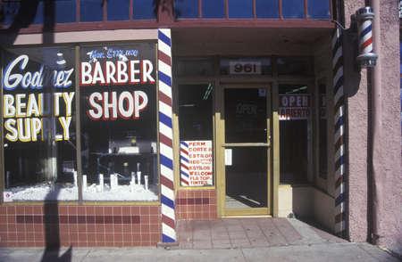 to paula: A small-town barbershop, Santa Paula, CA Editorial