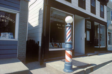 A small-town barbershop, Cold Spring, NY