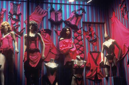 Womens lingerie in a storefront window, Melrose Blvd, Los Angeles, CA