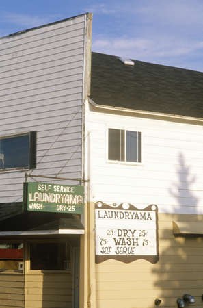 laundromat: A small-town laundromat, Washburn, WI Editorial