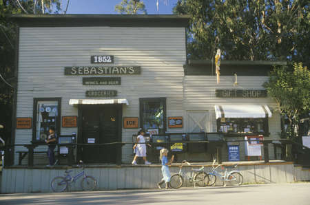 general store: Grocery and gift store, San Simeon, CA Editorial