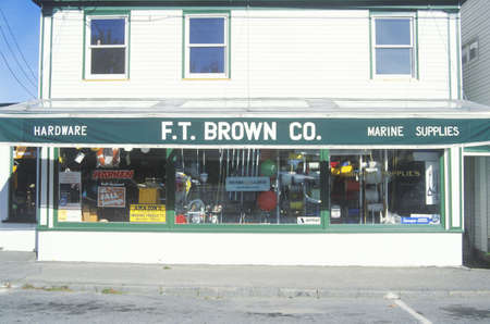 Small-town hardware store, ME