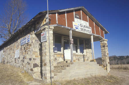 Small-town Post Office and general store, Garrison, MO Editorial