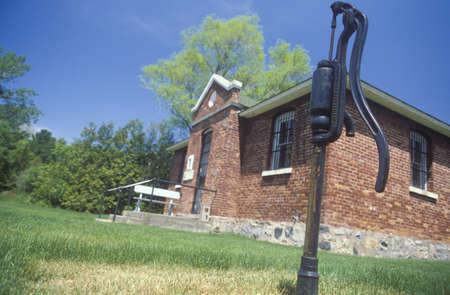 jailhouse: Antique water pump and jailhouse, MI