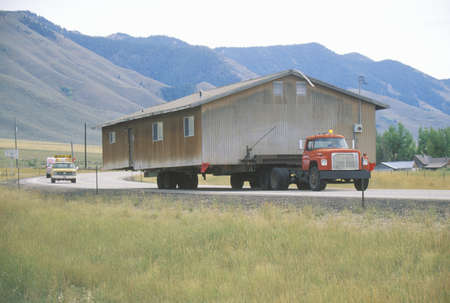 relocated: Relocated house on highway, Route 89, UT