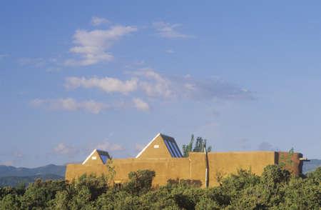 Modern and adobe house, Santa Fe, NM
