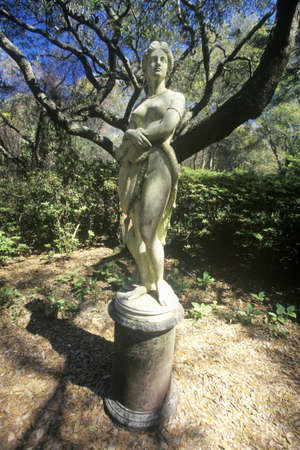 The Virginia Dare Statue at Elizabethan Gardens, Roanoke Island, NC