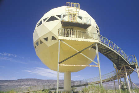 Futuristic dome house in the desert, Route 66, AZ