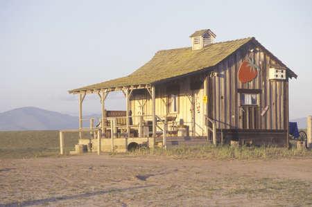 Vieille maison en bois, Central CA Banque d'images - 20766199