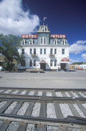 dillon: Railroad side hotel, Dillon, MT Editorial