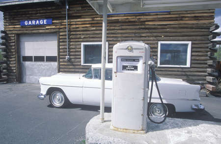 automobile repair shop: Automobile repair shop, gas station and 1954 Ford, AL