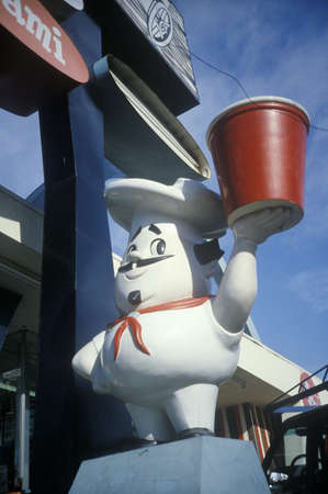 advertise with us: Chef statue outside of a diner, NY