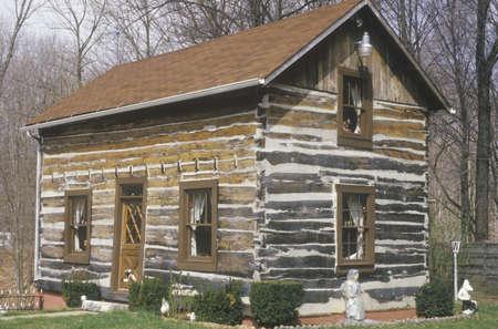 Log cabin, Cataract Falls, IN