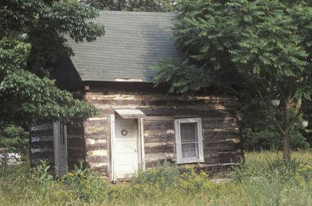 va: Log cabin, Blue Ridge Parkway, VA