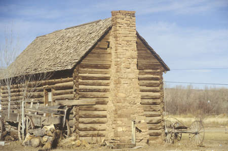 ut: Log cabin, Southern UT Editorial