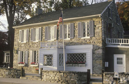 md: Stone two-story home, U.S. Route 40, MD