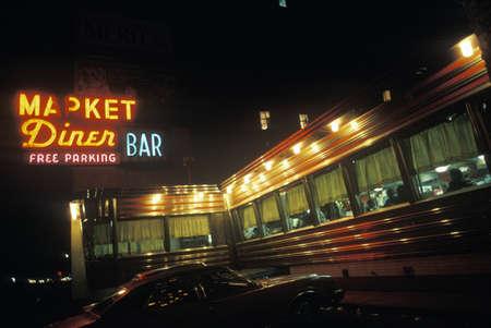 Retro roadside diner, NY City Sajtókép