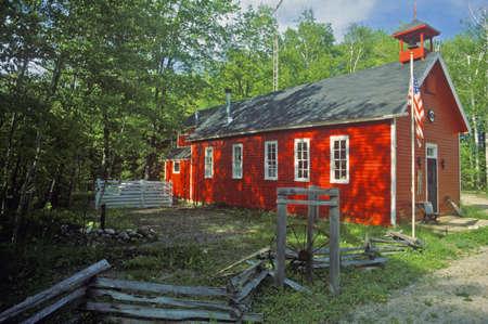 schoolhouse: Red schoolhouse in rustic setting, MI