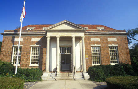 Exterior of ornate United States Post Office,  Madison, GA
