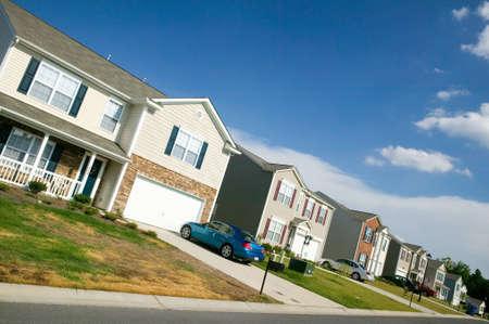 domesticity: Brand new housing development near Charlotte, North Carolina