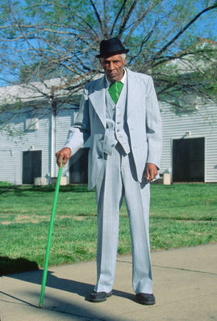 dapper: An African-American gentleman on his morning walk, Richmond, VA