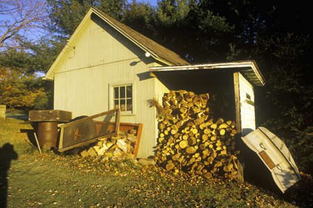Home with large pile in Autumn, CT